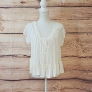 Free People white Natural top